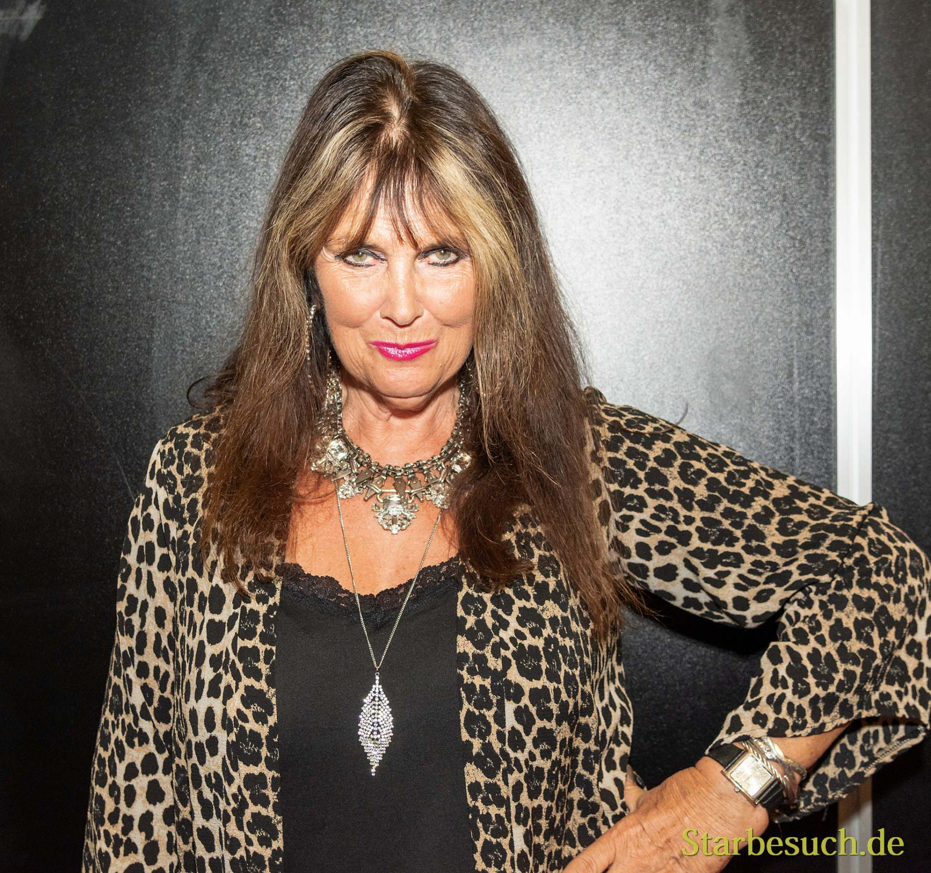 DORTMUND, GERMANY - December 1st 2018: Caroline Munro (*1949, British actor and model) at German Comic Con Dortmund, a two day fan convention