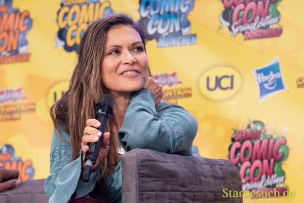 DORTMUND, GERMANY - December 1st 2018: Nia Peebles (*1961, actress - Walker Texas Ranger) at German Comic Con Dortmund, a two day fan convention