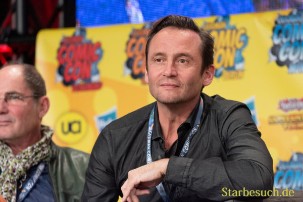 DORTMUND, GERMANY - December 1st 2018: Sven Gerhardt (*1968, german actor and voice actor) at German Comic Con Dortmund, a two day fan convention