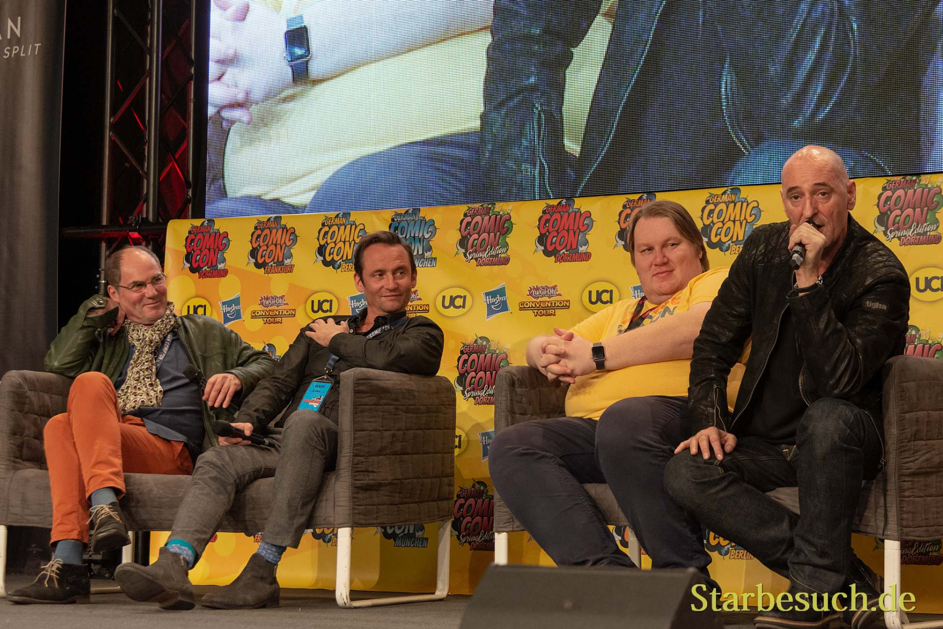 DORTMUND, GERMANY - December 1st 2018: Marcus Off, Sven Gerhardt, Sven Vössing and Ingo Albrecht at German Comic Con Dortmund, a two day fan convention