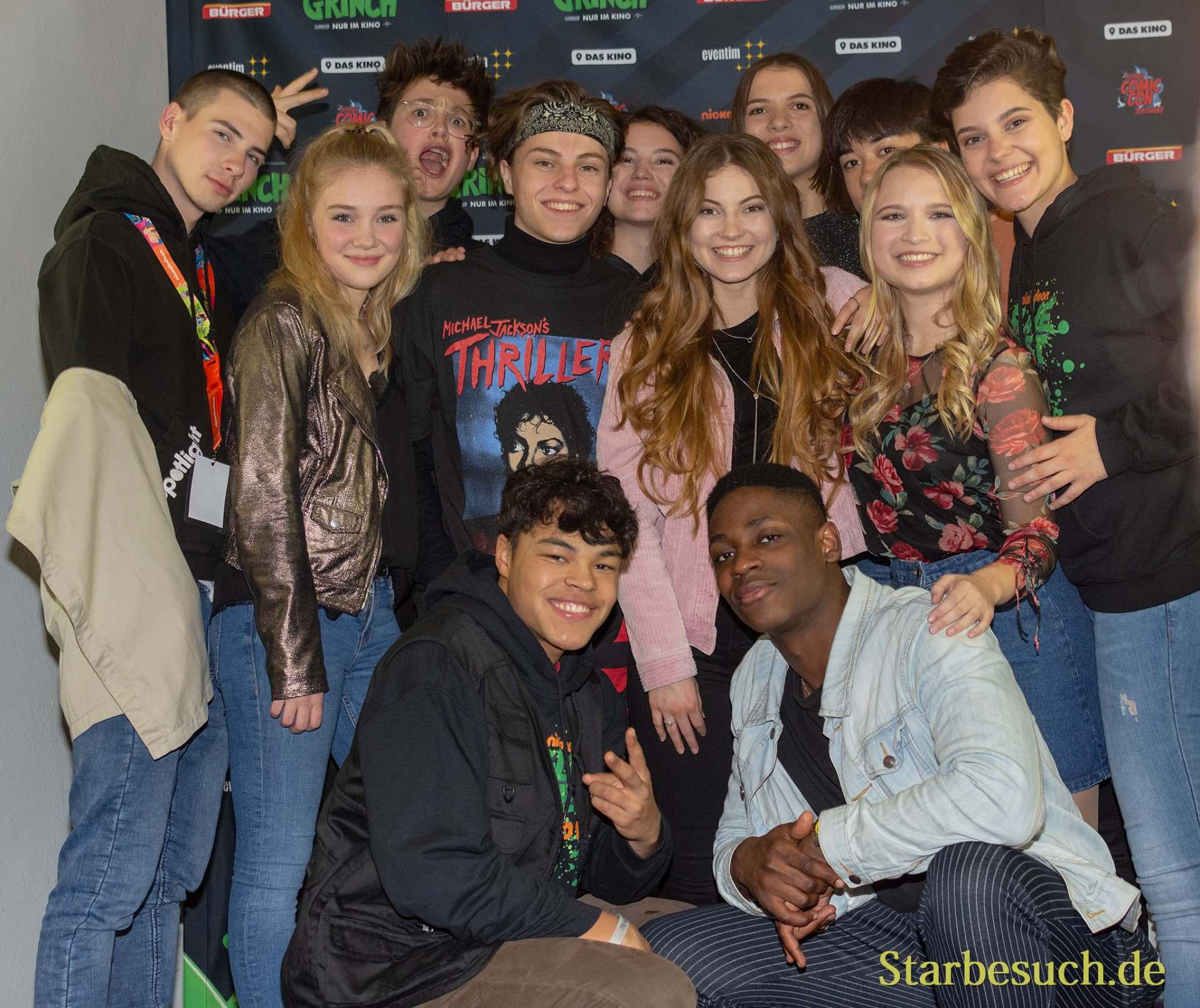 DORTMUND, Germany - December 1st 2018: Spotlight Cast at Nickelodeon Slimefest 2018
