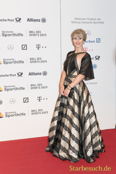 WIESBADEN, Germany - February 2nd, 2019: Pauline-Sophie Grabosch (*1998, German track cyclist) at Ball des Sports 2019