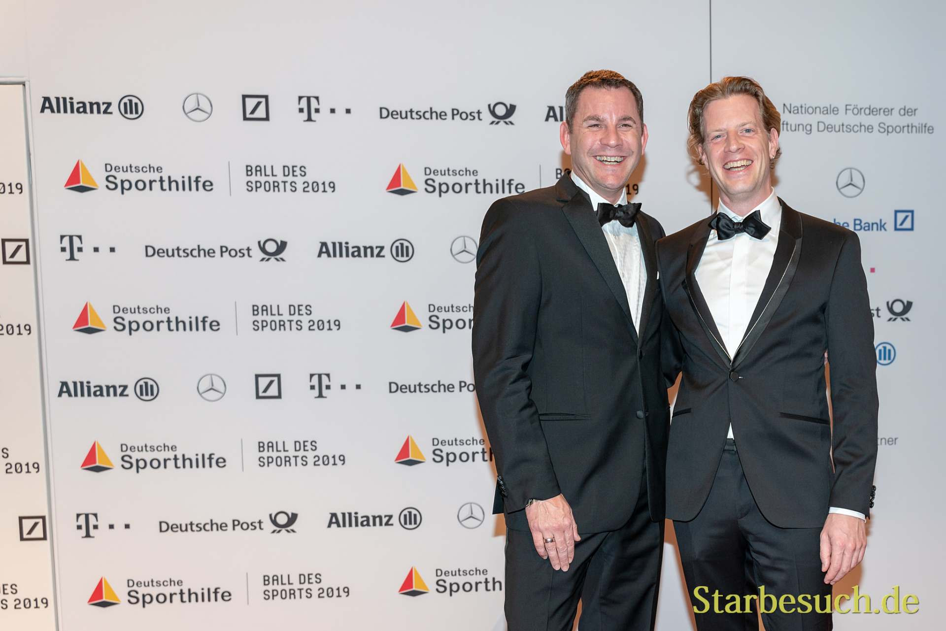 WIESBADEN, Germany - February 2nd, 2019: Sven Gerich and husband at Ball des Sports 2019