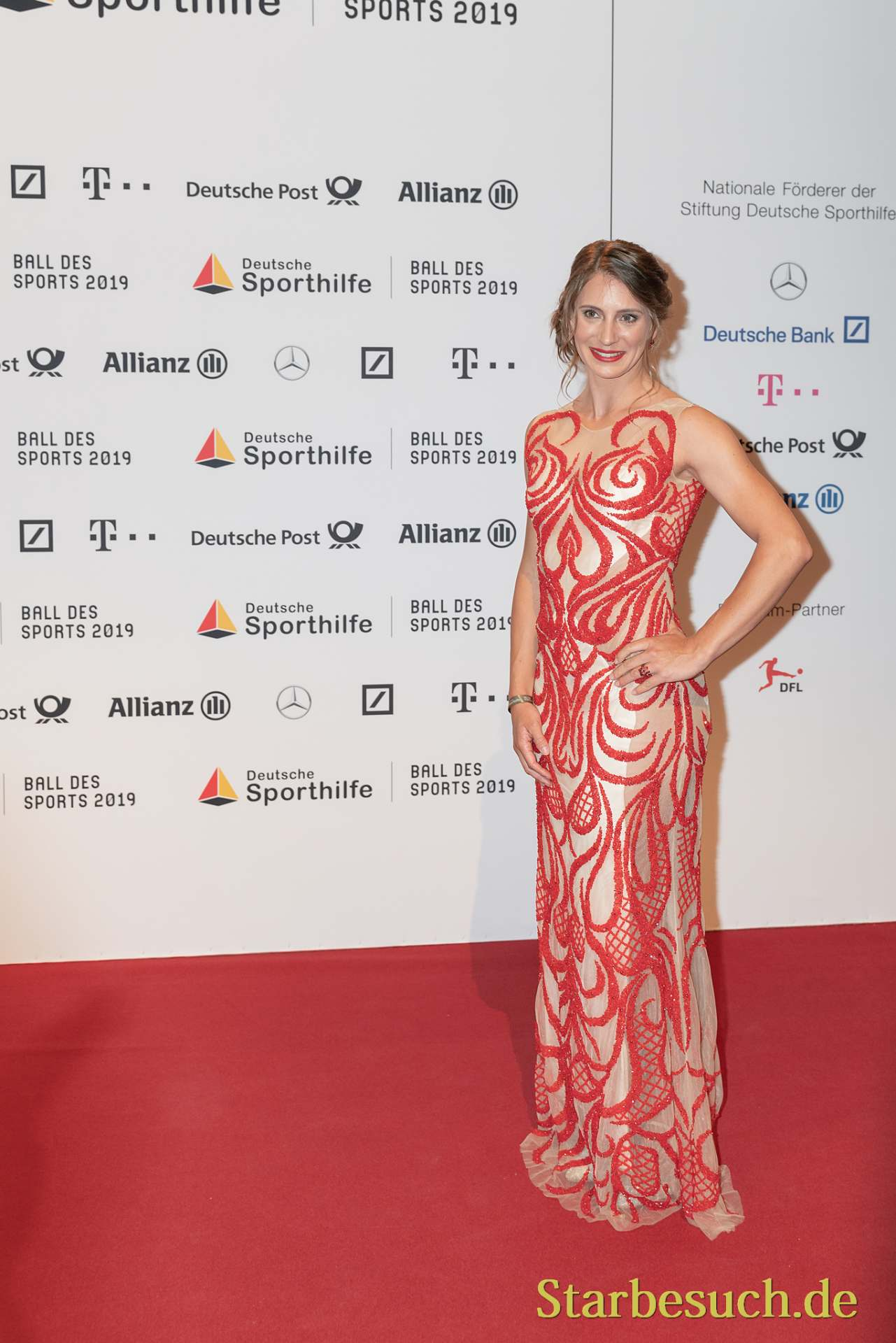 WIESBADEN, Germany - February 2nd, 2019: Miriam Welte (*1986, German cyclist) at Ball des Sports 2019