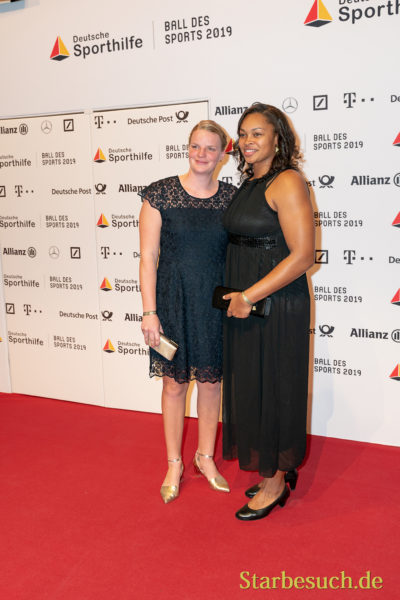 WIESBADEN, Germany - February 2nd, 2019: Shanice Craft (*1993, German discus thrower) at Ball des Sports 2019