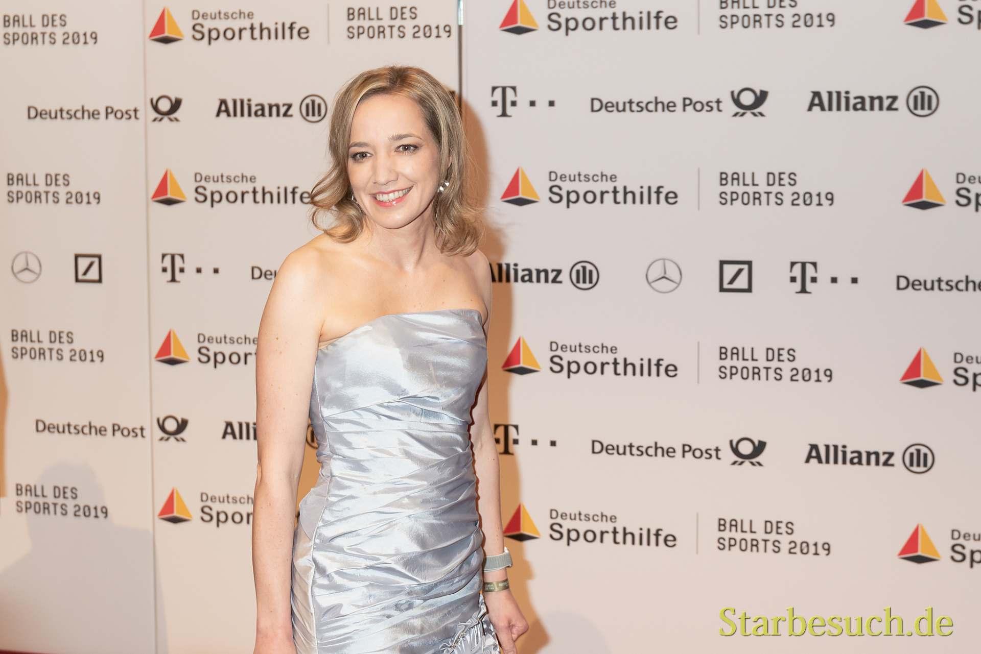 WIESBADEN, Germany - February 2nd, 2019: Kristina Schröder (*1977, German politician (CDU)) at Ball des Sports 2019