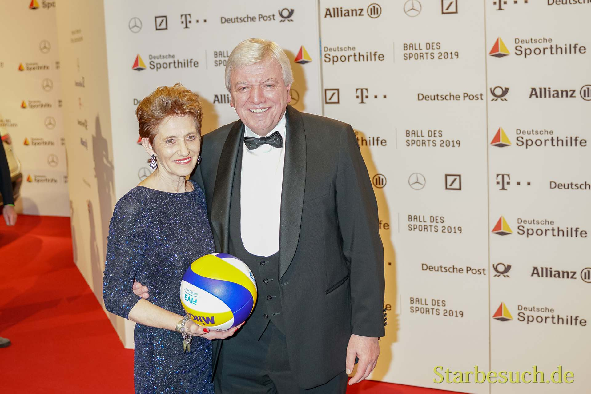 WIESBADEN, Germany - February 2nd, 2019: Volker Bouffier (*1951, German politician) at Ball des Sports 2019