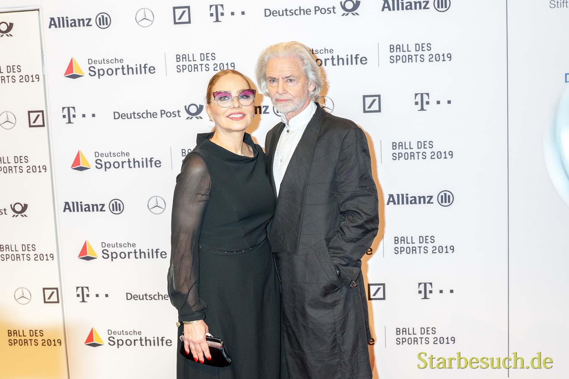 WIESBADEN, Germany - February 2nd, 2019: Ornella Muti and Hermann Bühlbecker at Ball des Sports 2019