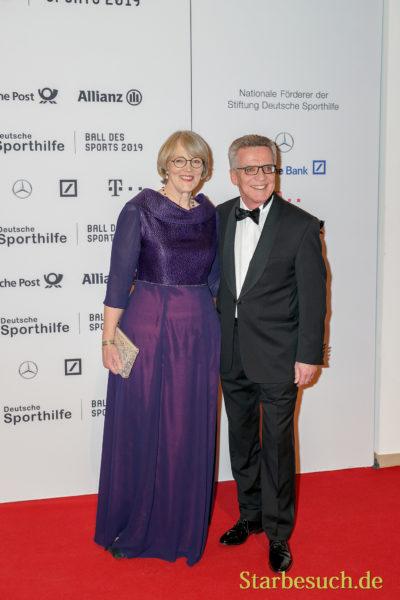 WIESBADEN, Germany - February 2nd, 2019: Thomas de Maizière (*1954, German politician (CDU)) at Ball des Sports 2019