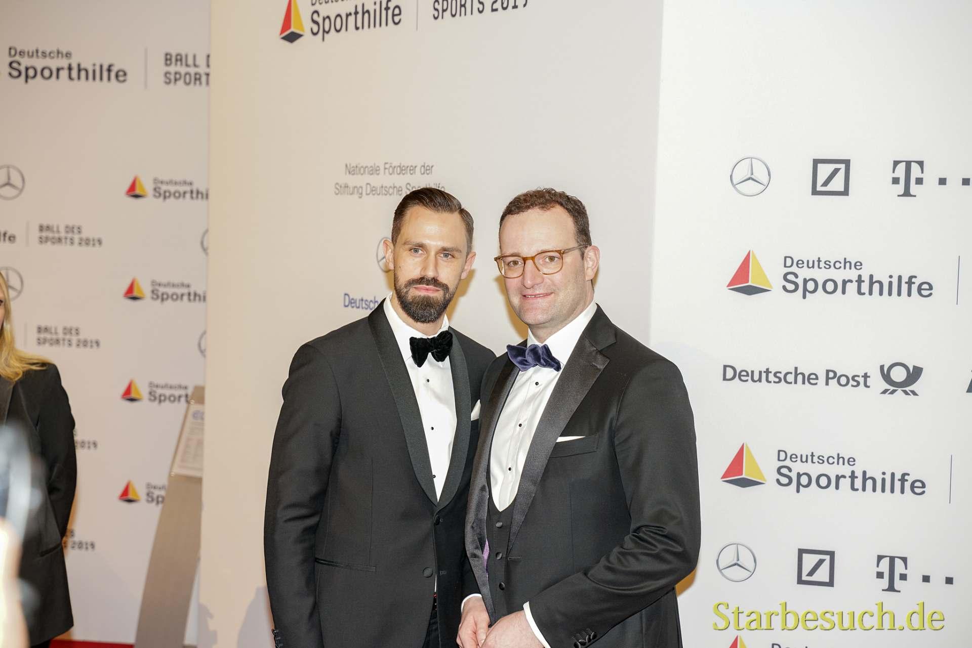WIESBADEN, Germany - February 2nd, 2019: Daniel Funke and Jens Spahn at Ball des Sports 2019