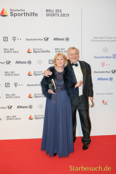 WIESBADEN, Germany - February 2nd, 2019: Karin Tietze-Ludwig (*1941, German television presenter) at Ball des Sports 2019