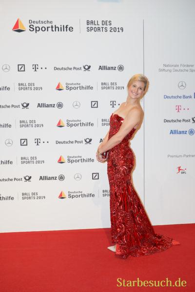 WIESBADEN, Germany - February 2nd, 2019: Britta Heidemann (*1982, German fencer) at Ball des Sports 2019