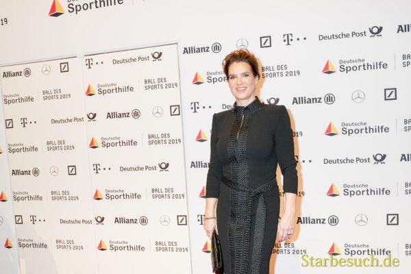 WIESBADEN, Germany - February 2nd, 2019: Katarina Witt (*1965, East German figure skater) at Ball des Sports 2019