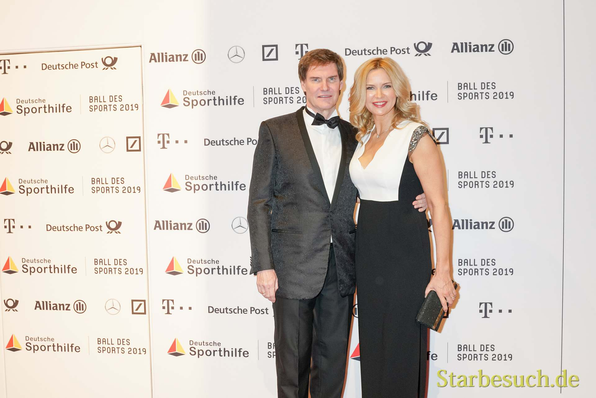 WIESBADEN, Germany - February 2nd, 2019: Carsten J. Maschmeyer and Veronica Ferres at Ball des Sports 2019