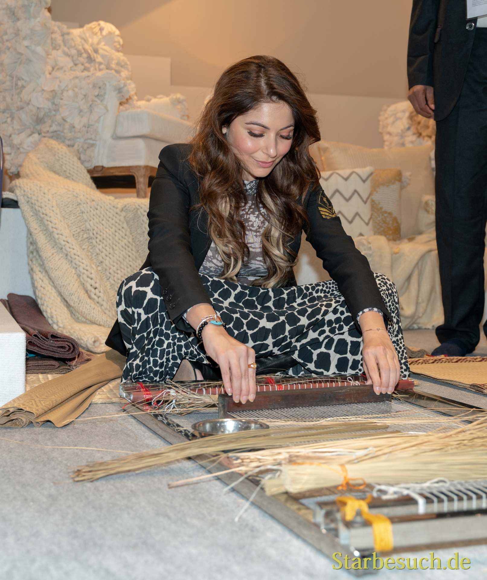 Frankfurt, Germany. 11th Feb 2019. Kanika Kapoor, singer, bollywood star and The Voice India Coach visits Ambiente trade fair 2019. Ambiente is a ld's leading consumer goods trade fair with more than 4300 exhibitors and 130,000+ trade visitors.
