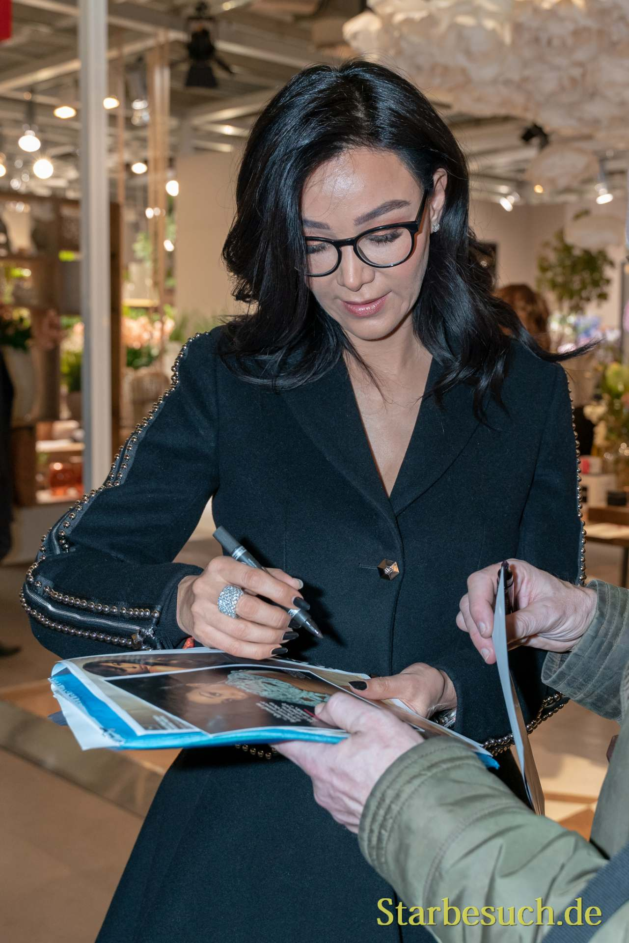 Frankfurt, Germany. 11th Feb 2019. Verona Pooth signing autographs at Ambiente trade fair 2019. Ambiente is a leading consumer goods trade fair with more than 4300 exhibitors and 130,000+ trade visitors.