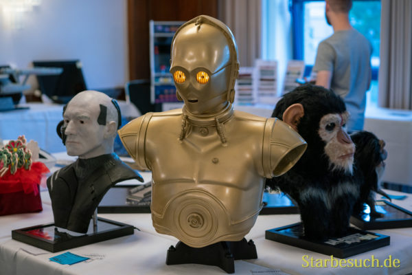 Bonn, Germany - June 8 2019: Fan Modeling Exhibition at FedCon 28, a four day sci-fi convention. FedCon 28 took place Jun 7-10 2019.