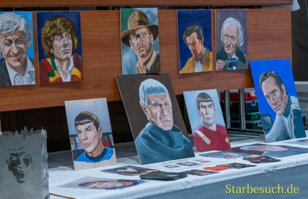 Bonn, Germany - June 8 2019: Art-Show at FedCon 28, a four day sci-fi convention. FedCon 28 took place Jun 7-10 2019.