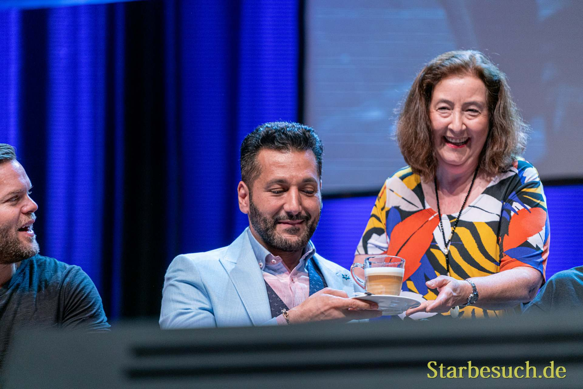 Bonn, Germany - June 8 2019: Cas Anvar and Lori Dungey at FedCon 28, a four day sci-fi convention. FedCon 28 took place Jun 7-10 2019.