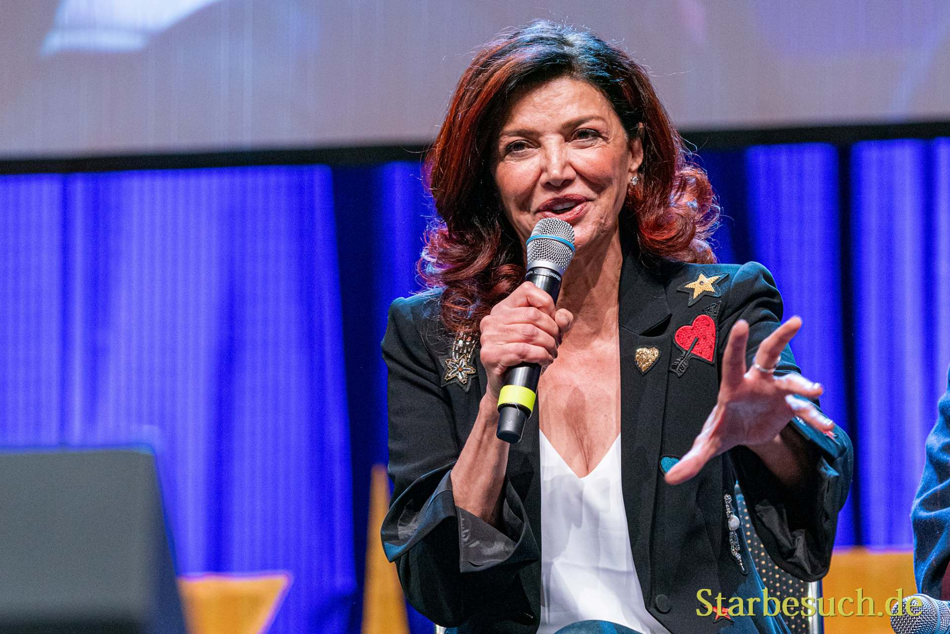 Bonn, Germany - June 8 2019: Shohreh Aghdashloo (*1952, American actress, born in Iran - The Expanse) at FedCon 28, a four day sci-fi convention. FedCon 28 took place Jun 7-10 2019.