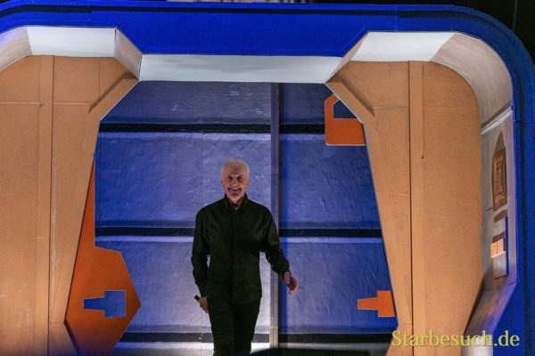 Bonn, Germany - June 8 2019: Anthony Daniels (*1946, English actor - C-3PO in Star Wars) entering the panel at FedCon 28, a four day sci-fi convention. FedCon 28 took place Jun 7-10 2019.