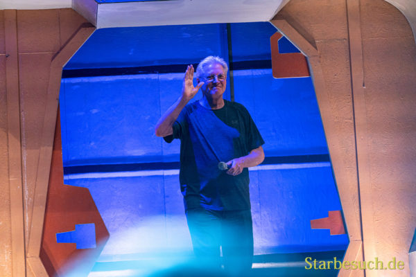 Bonn, Germany - June 8 2019: Bruce Boxleitner (*1950, actor, writer - Babylon 5) entering the panel at FedCon 28, a four day sci-fi convention. FedCon 28 took place Jun 7-10 2019.