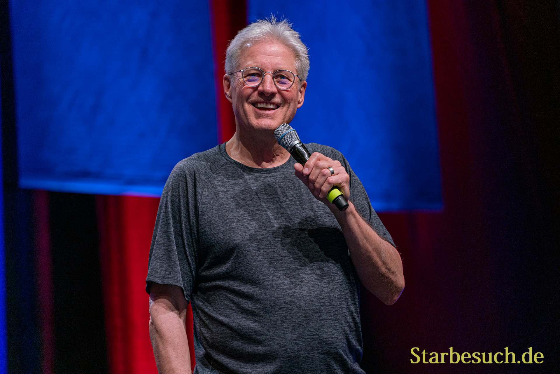 Bonn, Germany - June 8 2019: Bruce Boxleitner (*1950, actor, writer - Babylon 5) talks about his experiences in the movie industry at FedCon 28