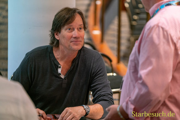 Bonn, Germany - June 8 2019: Kevin Sorbo (*1958, American actor, director and producer - Andromeda, Xena, Herkules) is happy to meet fans at FedCon 28