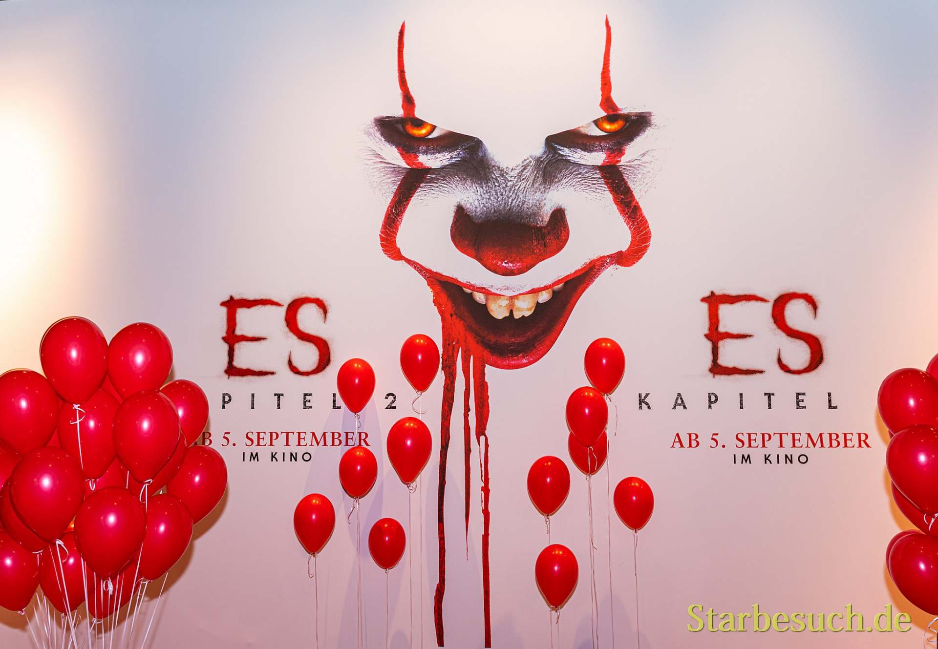 COLOGNE, GERMANY - JUN 28th 2019: Photo Point - Stephen King's IT - at CCXP Cologne