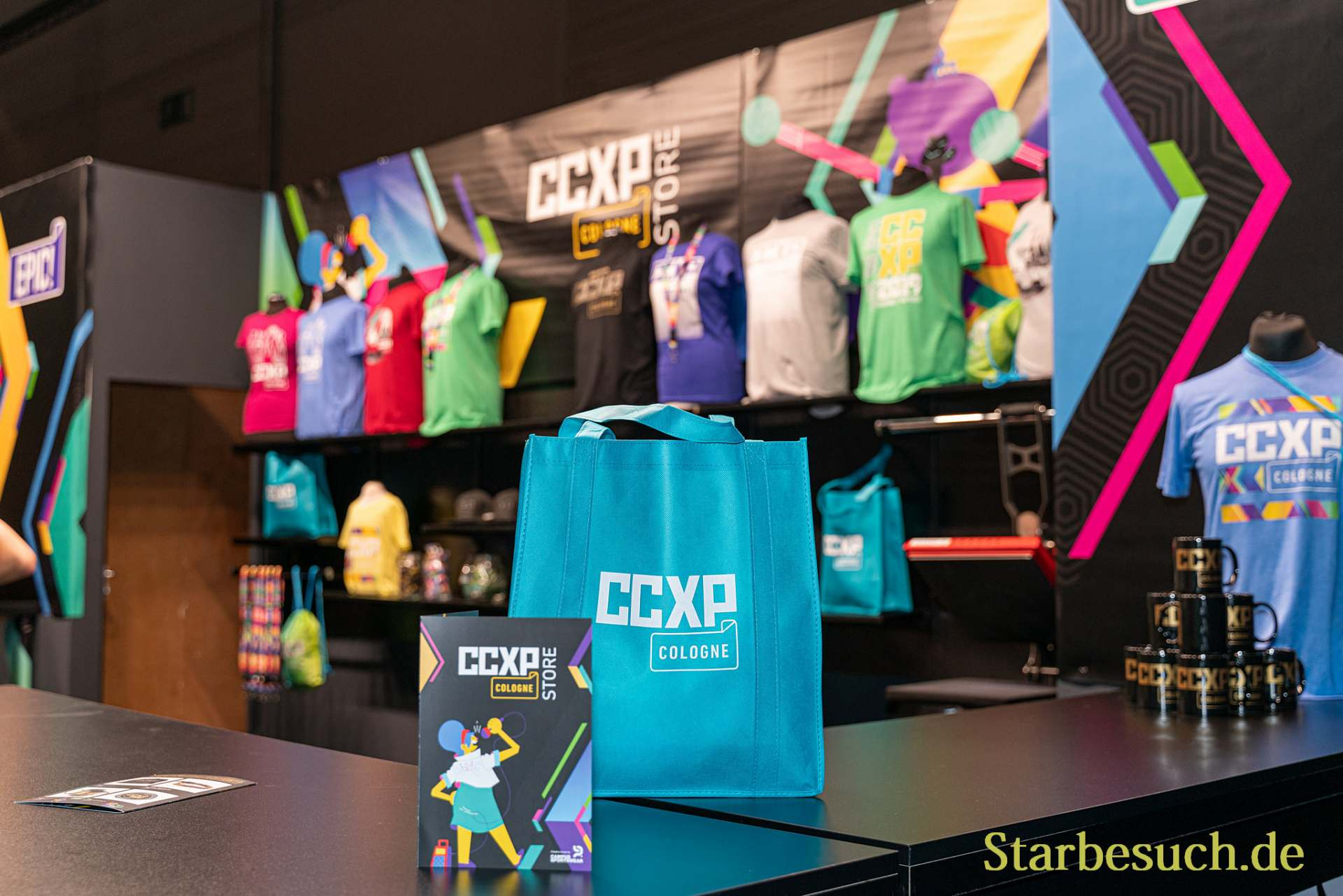 COLOGNE, GERMANY - JUN 28th 2019: Impressions from CCXP Cologne: Merchandise Booth