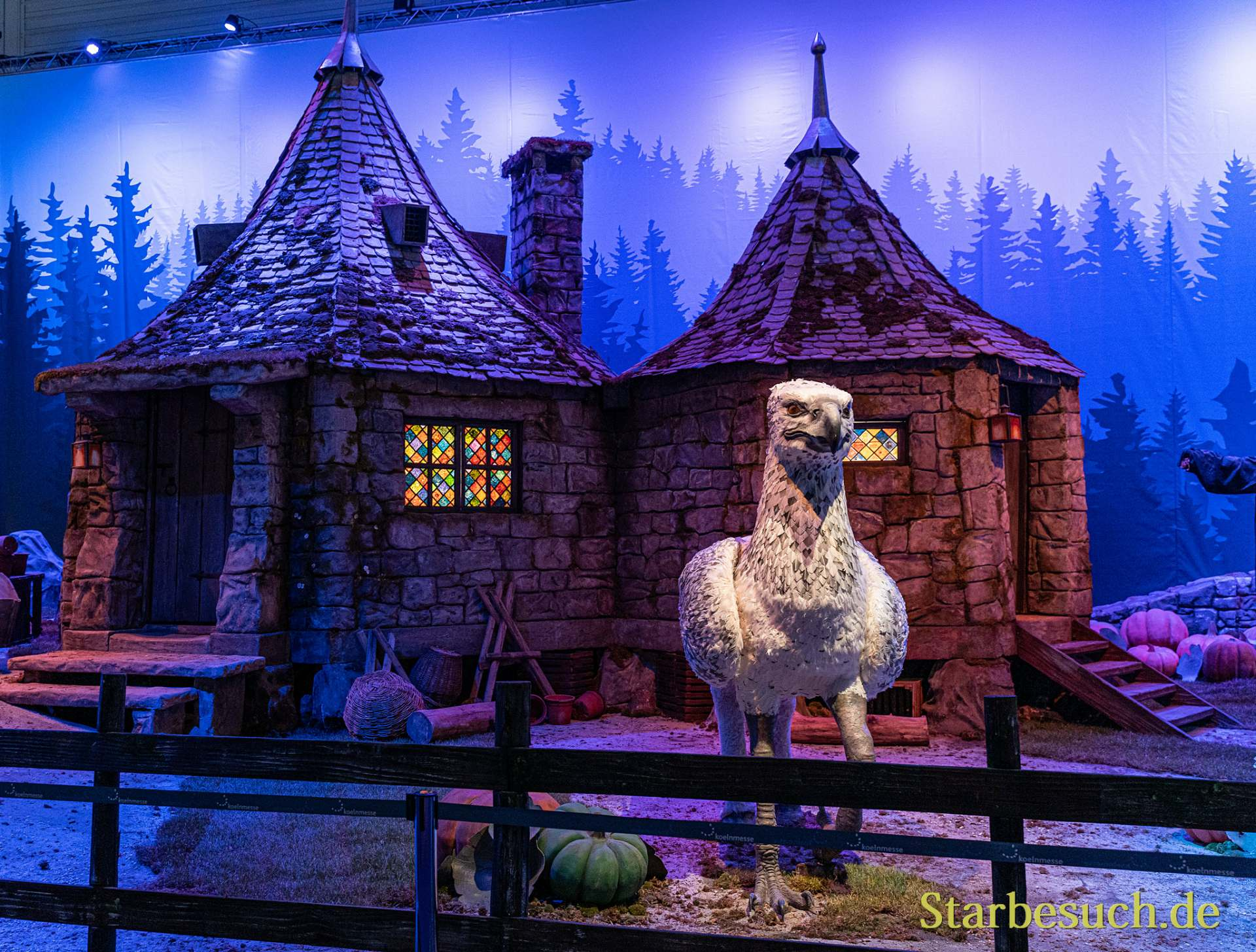 COLOGNE, GERMANY - JUN 28th 2019: Impressions from CCXP Cologne: Replica of Hagrid's Cabin from Harry Potter
