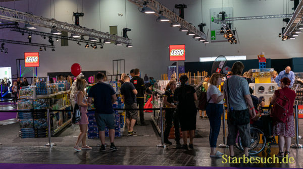 COLOGNE, GERMANY - JUN 28th 2019: Impressions from CCXP Cologne: Lego booth