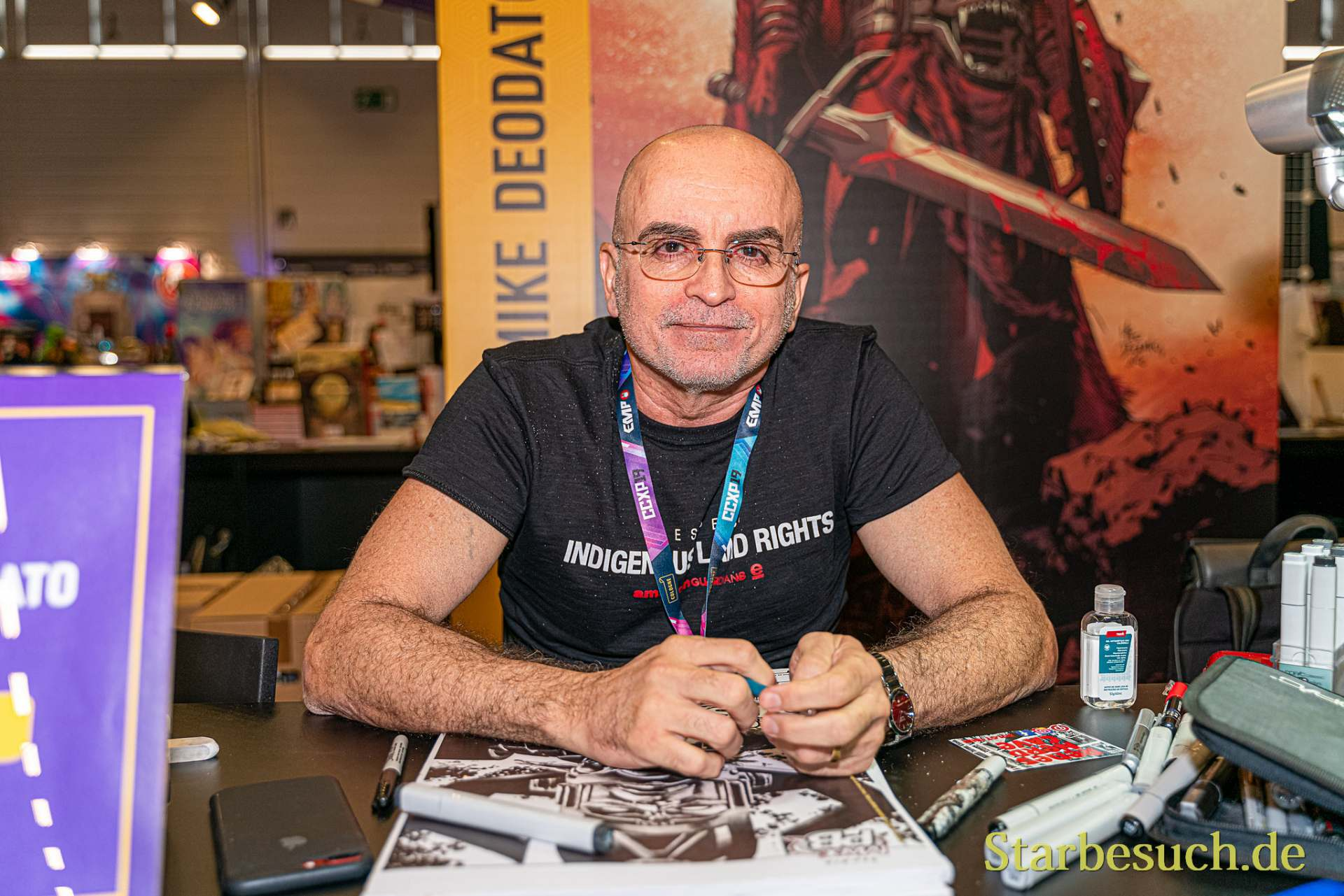 COLOGNE, GERMANY - JUN 28th 2019: Mike Deodato at CCXP Cologne
