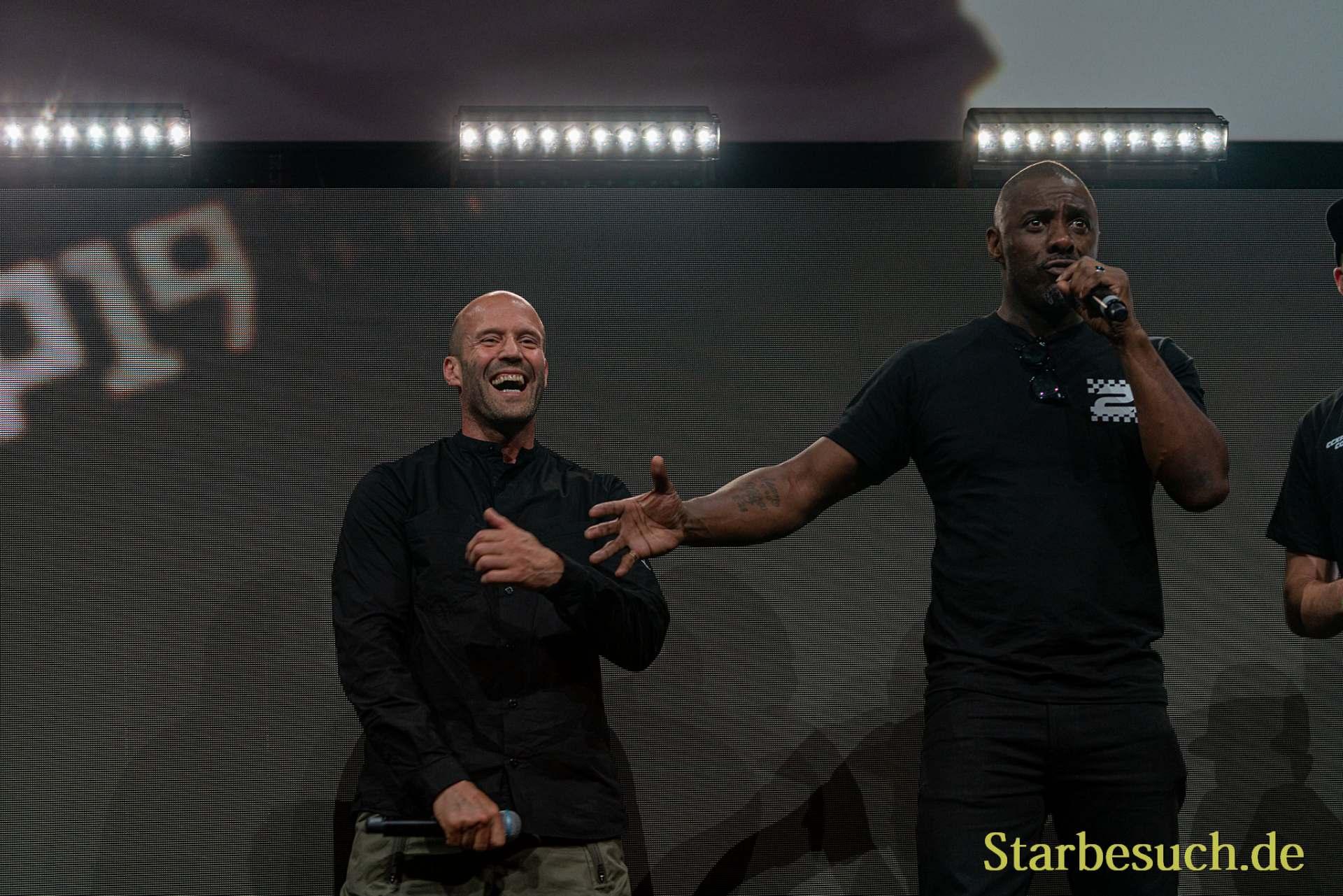 COLOGNE, GERMANY - JUN 28th 2019: Idris Elba and Jason Statham at CCXP Cologne