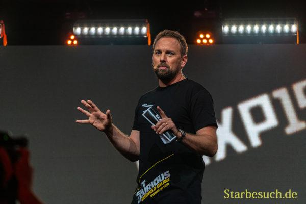 COLOGNE, GERMANY - JUN 28th 2019: Steven Gätjen at CCXP Cologne