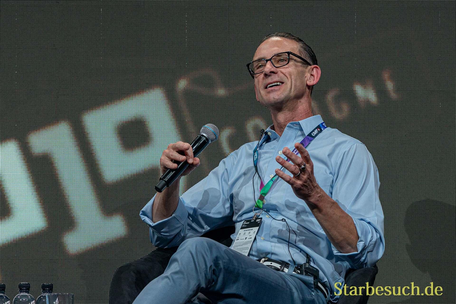 COLOGNE, GERMANY - JUN 28th 2019: Chuck Palahniuk at CCXP Cologne