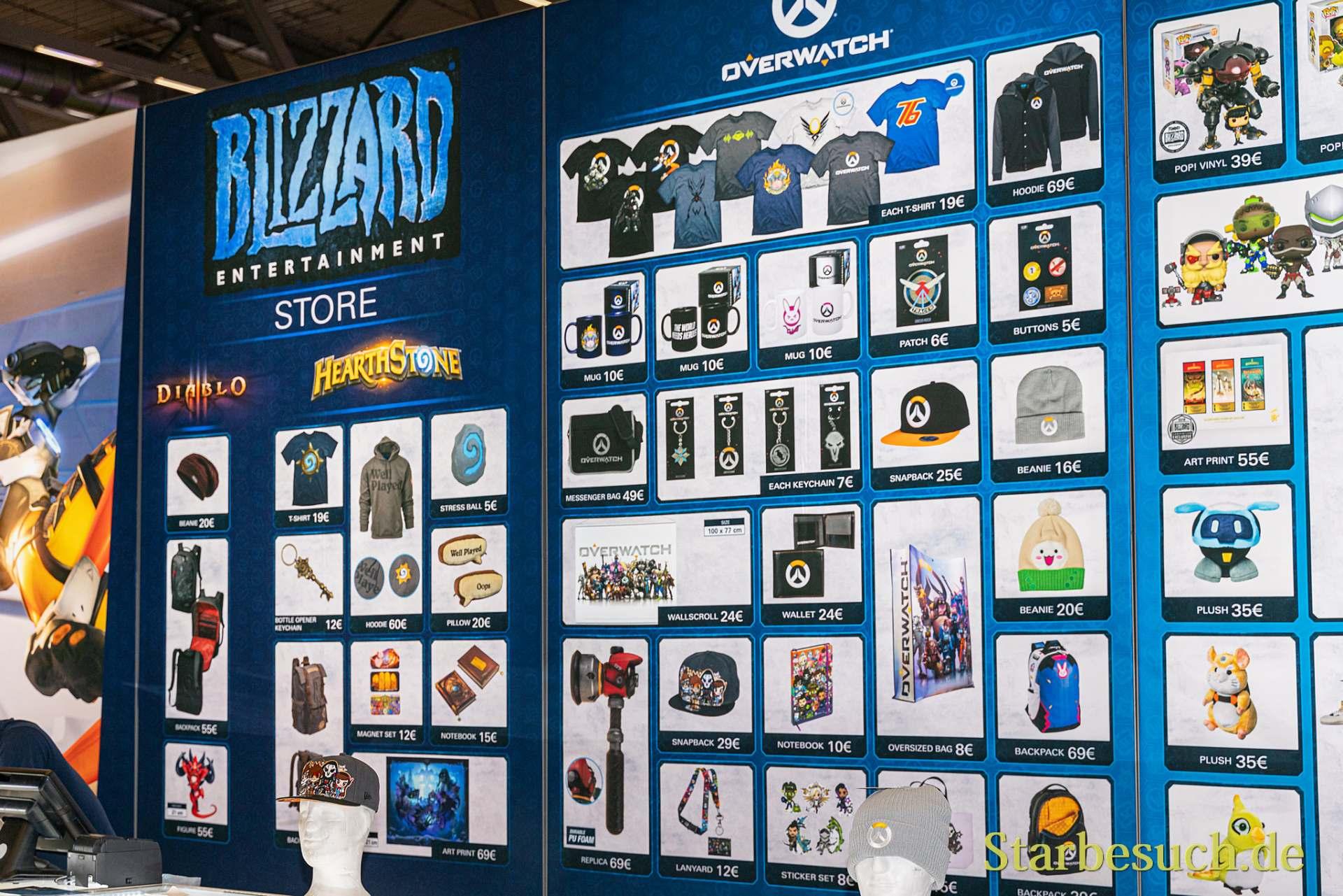 COLOGNE, GERMANY - JUN 28th 2019: Impressions at CCXP Cologne: Blizzard Merchandise