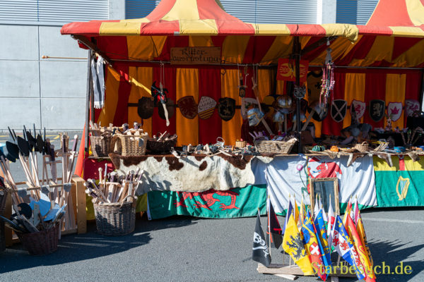 COLOGNE, GERMANY - JUN 28th 2019: Medieval Market at CCXP Cologne