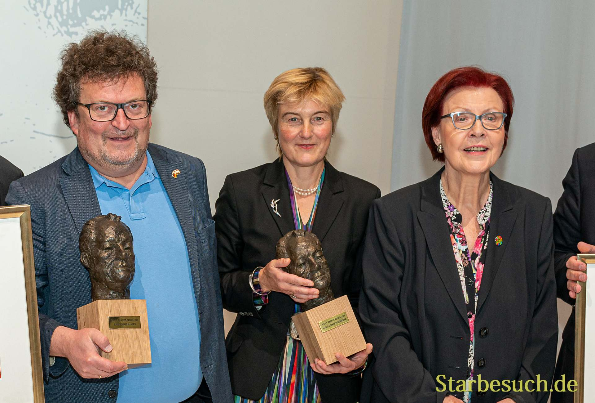 Erik Fosnes Hansen, Marie-Theres Federhofer und Heidemarie Wieczorek-Zeul