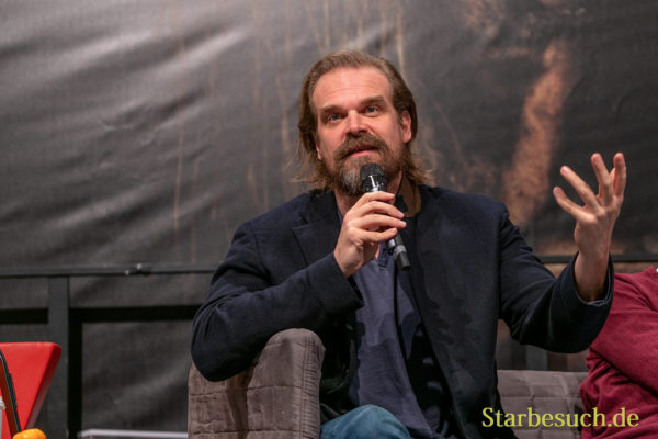 DORTMUND, GERMANY - December 7th 2019: David Harbour at German Comic Con Dortmund