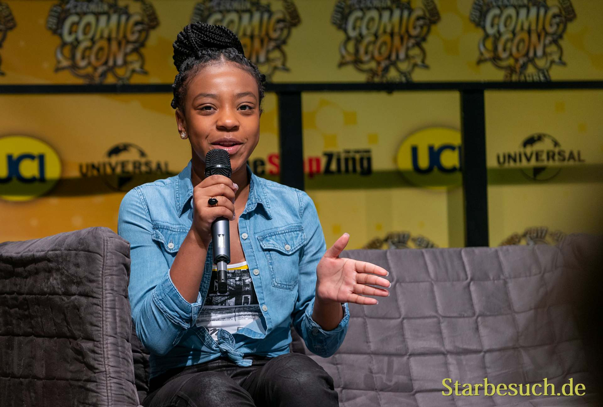 DORTMUND, GERMANY - December 7th 2019: Priah Ferguson at German Comic Con Dortmund