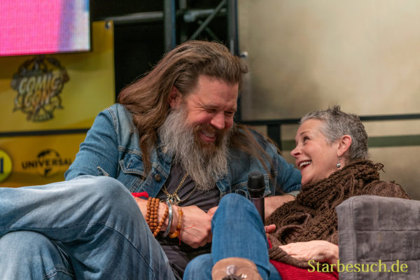 DORTMUND, GERMANY - December 7th 2019: Ryan Hurst and Melissa McBride at German Comic Con Dortmund