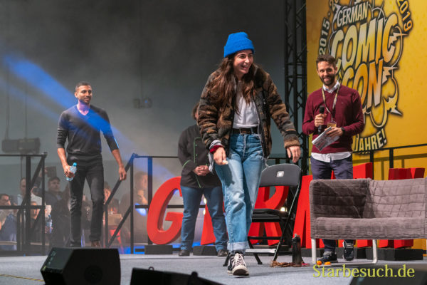 DORTMUND, GERMANY - December 7th 2019: Alanna Masterson and Avi Nash at German Comic Con Dortmund