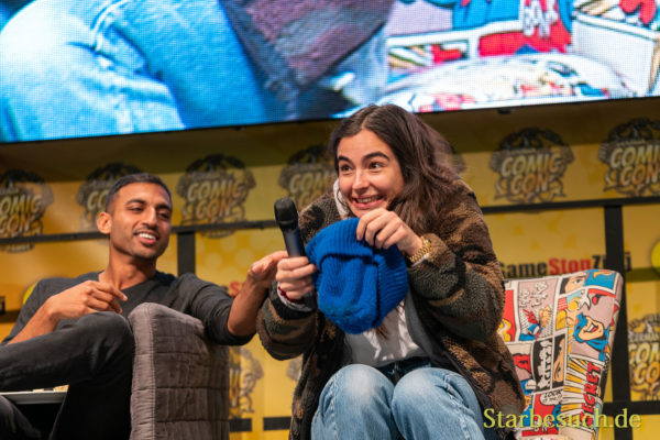 DORTMUND, GERMANY - December 7th 2019: Avi Nash and Alanna Masterson at German Comic Con Dortmund