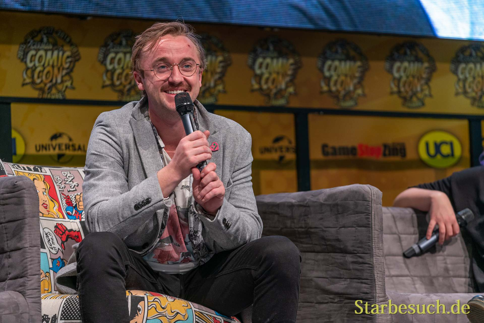 DORTMUND, GERMANY - December 7th 2019: Tom Felton at German Comic Con Dortmund