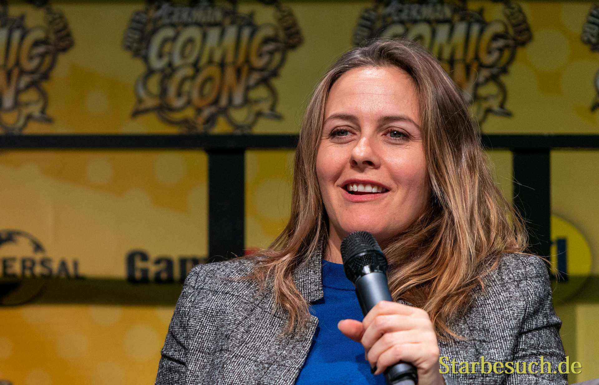 DORTMUND, GERMANY - December 7th 2019: Alicia Silverstone at German Comic Con Dortmund