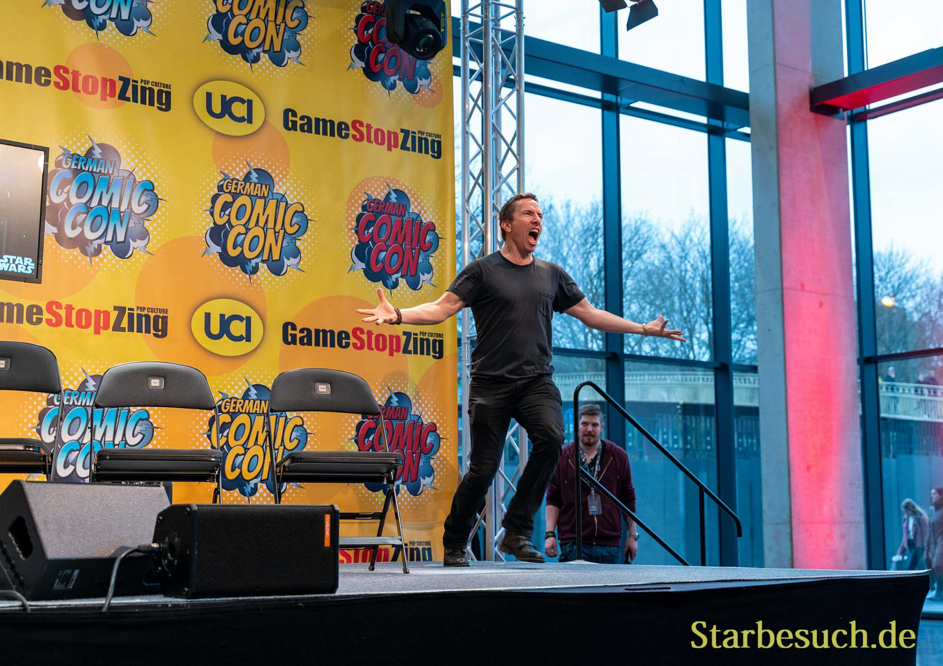 DORTMUND, GERMANY - December 7th 2019: Michael Traynor at German Comic Con Dortmund
