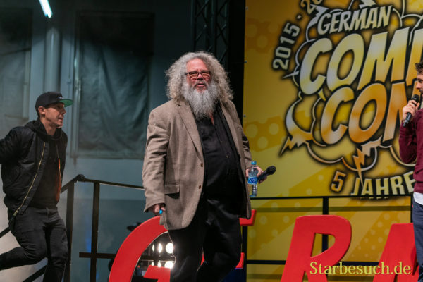 DORTMUND, GERMANY - December 7th 2019: Theo Rossi and Mark Boone Jr. at German Comic Con Dortmund