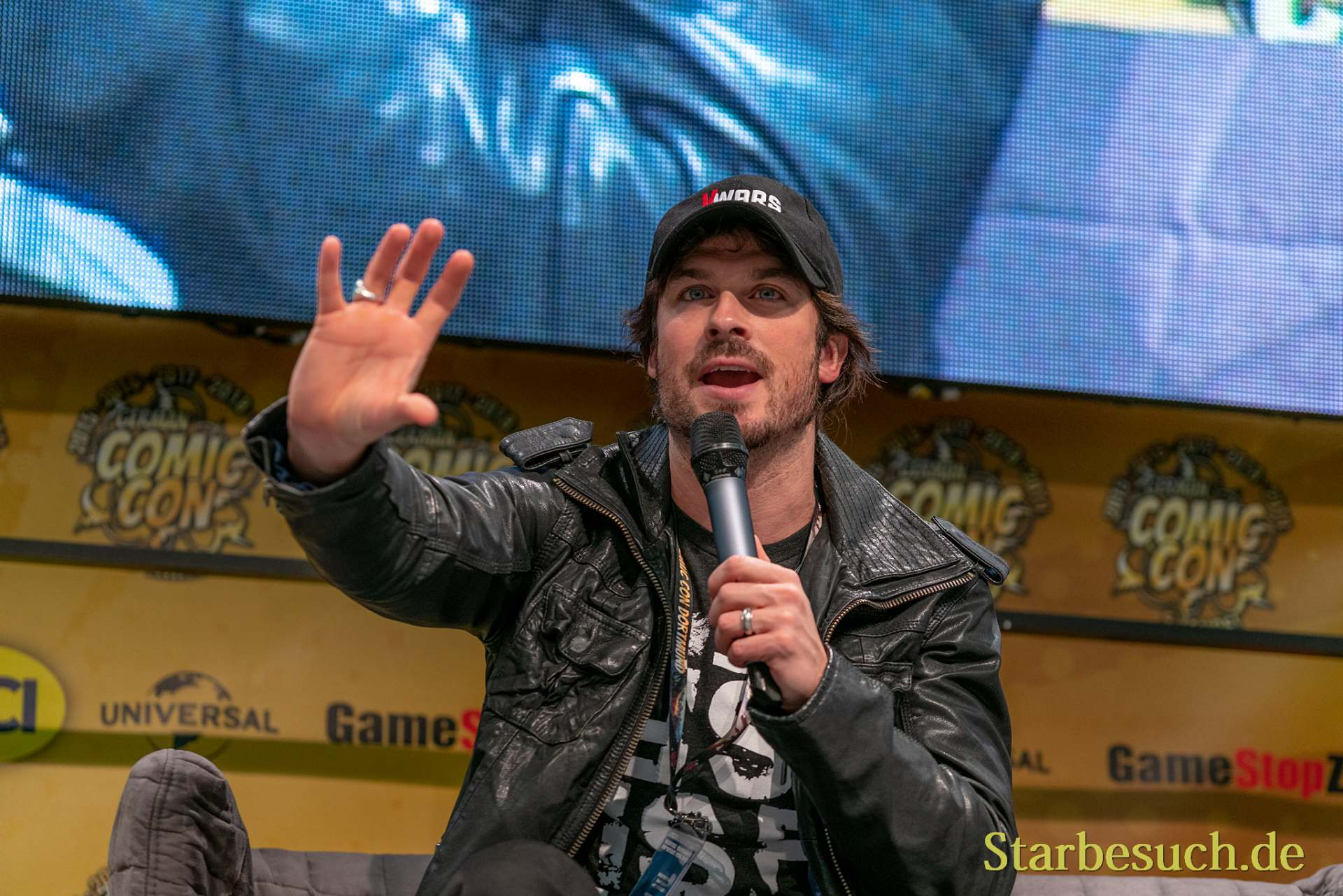DORTMUND, GERMANY - December 8th 2019: Ian Somerhalder at German Comic Con Dortmund