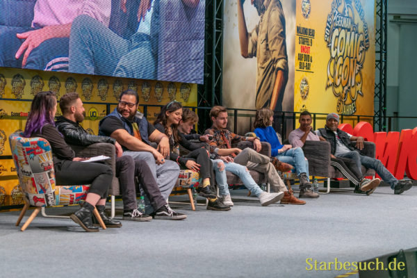 DORTMUND, GERMANY - December 8th 2019: Ross Marquand, Cooper Andrews, Cassady McClincy, Matt Linz, Callan McAuliffe, Katelyn Nacon, Avi Nash and Seth Gilliam at German Comic Con Dortmund